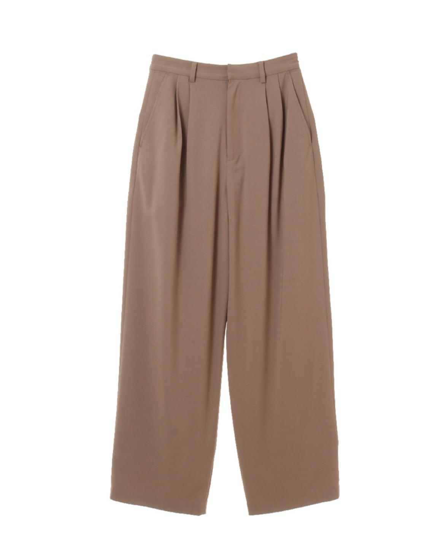 CLANE  BASIC TUCK PANTS