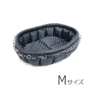 ふーじこちゃんママ手作り ぽんぽんベッド(サテンブラック) Mサイズ【PB13-050M】