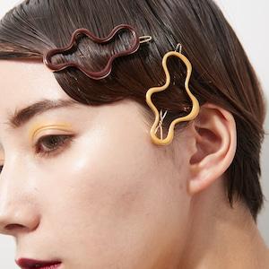 HAIR PIN || 【通常商品】 UNI-UNI HAIR PIN (GOLD+LEMON) || 1 HAIR PIN || GOLD×LEMON || EBH058