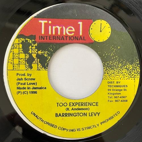 Barrington Levy - Too Experienced【7-20760】