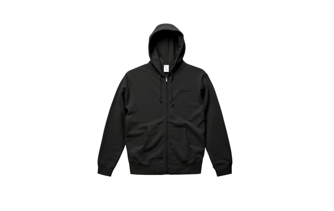 coguchi logo zip hoodie (bk/bk)