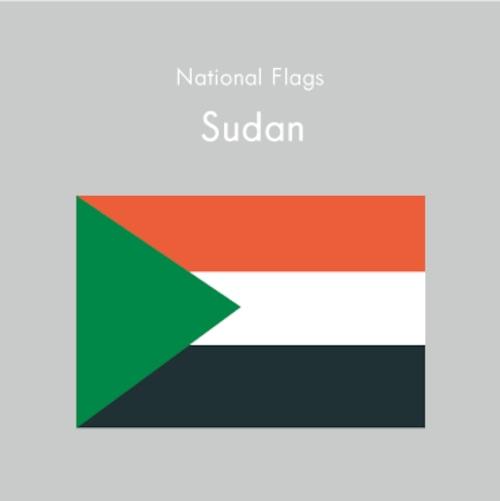 国旗ステッカー スーダン