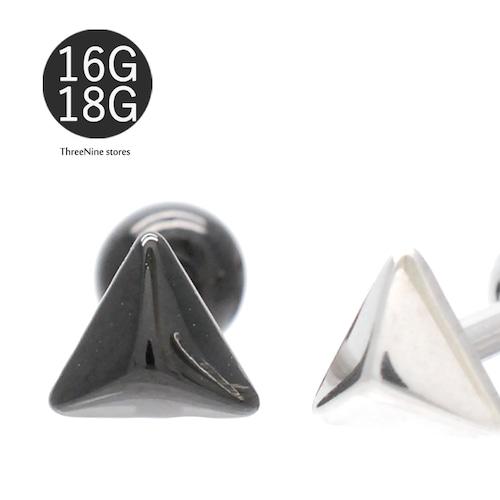 Pierce 16G 18G ボディピアス 極小 立体三角 スタッズ風 軟骨ピアス 片耳ピアス SPU042