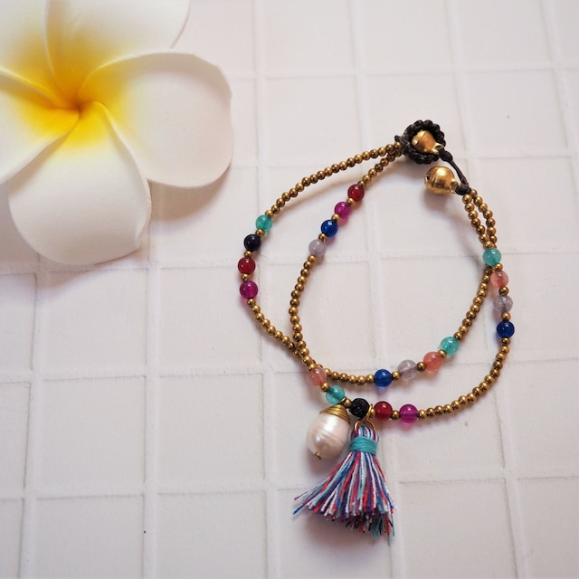 Tussel Pearl 2lined Bracelet《MIX》18385003F