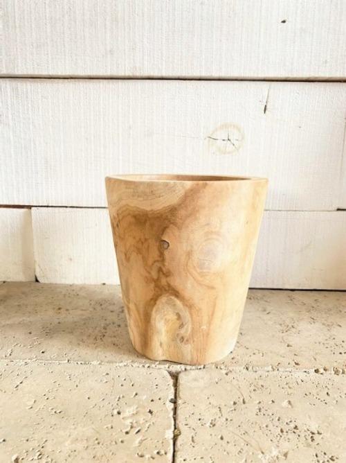 チーク鉢カバー ※3.5~5号鉢サイズ