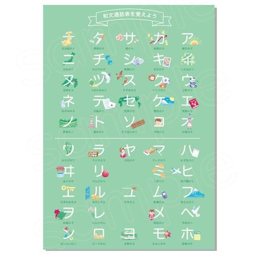 和文通話表を覚えよう ポスター