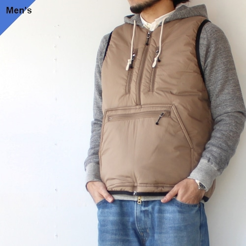 【21AW】ENDS and MEANS エンズアンドミーンズ Tactical Puff Vest ベージュ EM-ST-J02
