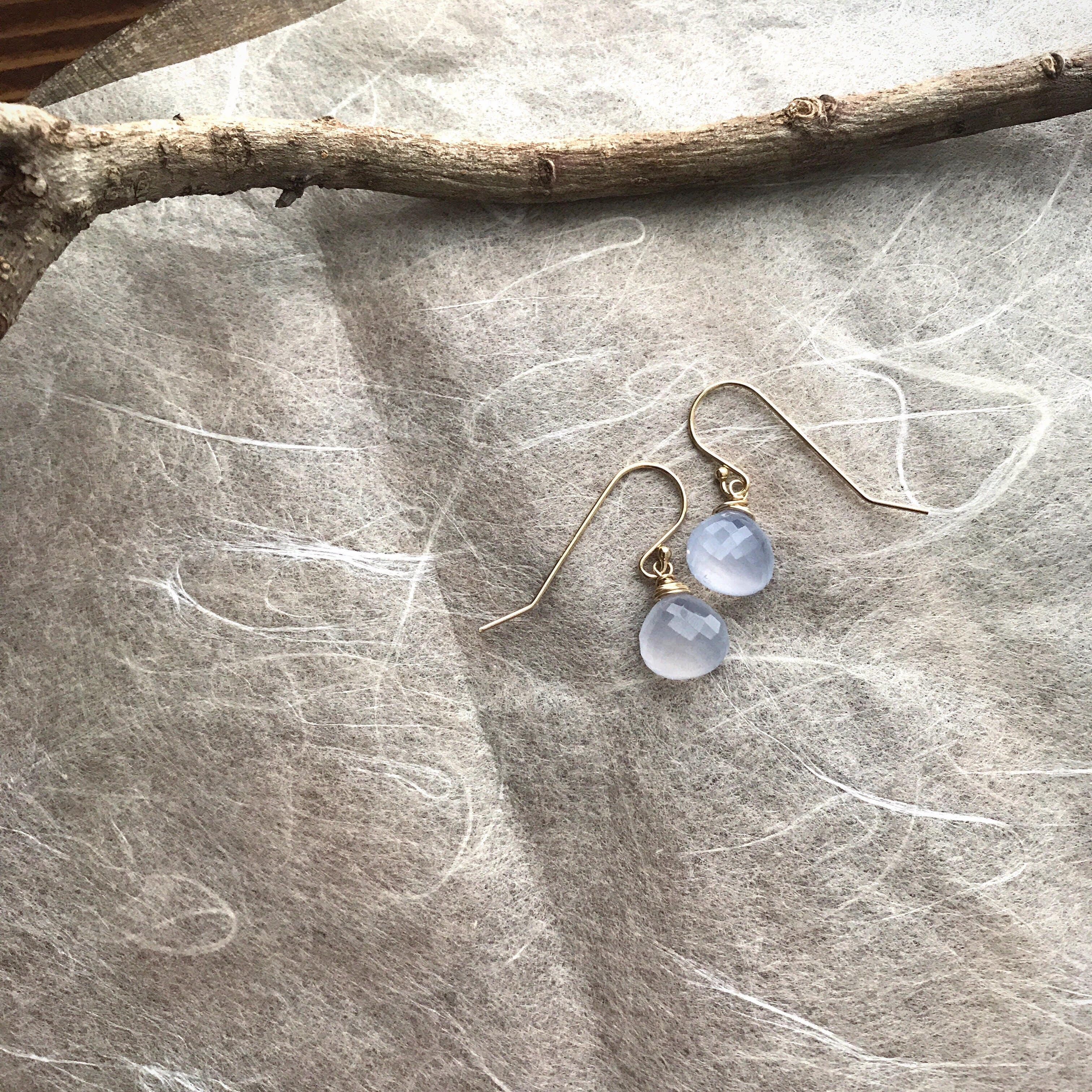Natural:Blue Chalcedony/K14 gf