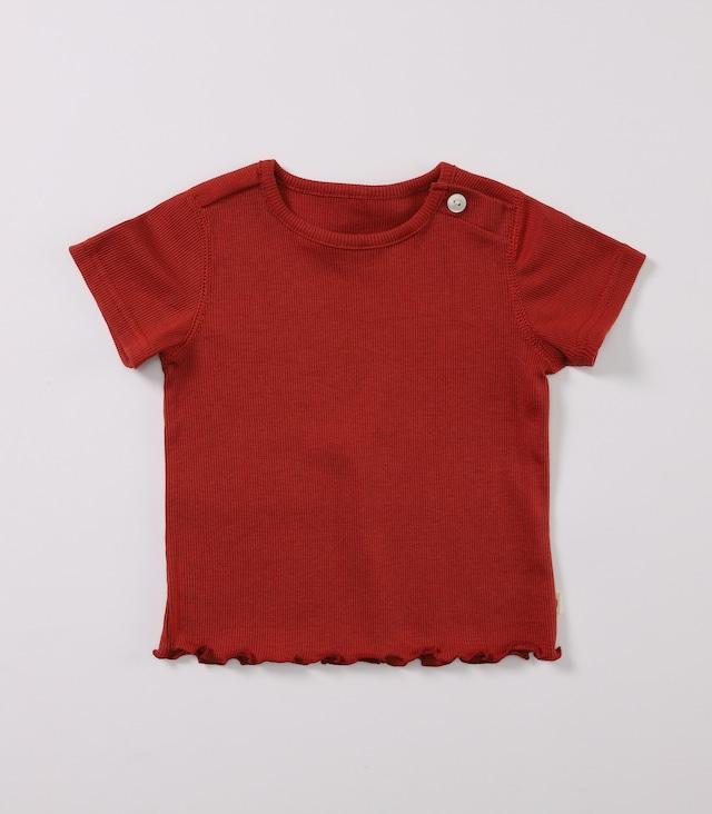 【ベビー服】綿シルクテレコTEE / ブリックレッド / 80~100サイズ