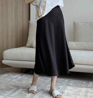 3色/グロスサテンフィッシュテールスカート ・2861