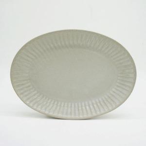 パンとごはんと... (Bread and Rice) ひらひらの器 OVAL PLATE (オーバルプレート) M【ホワイト】