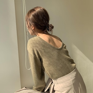 back open milan rib knit