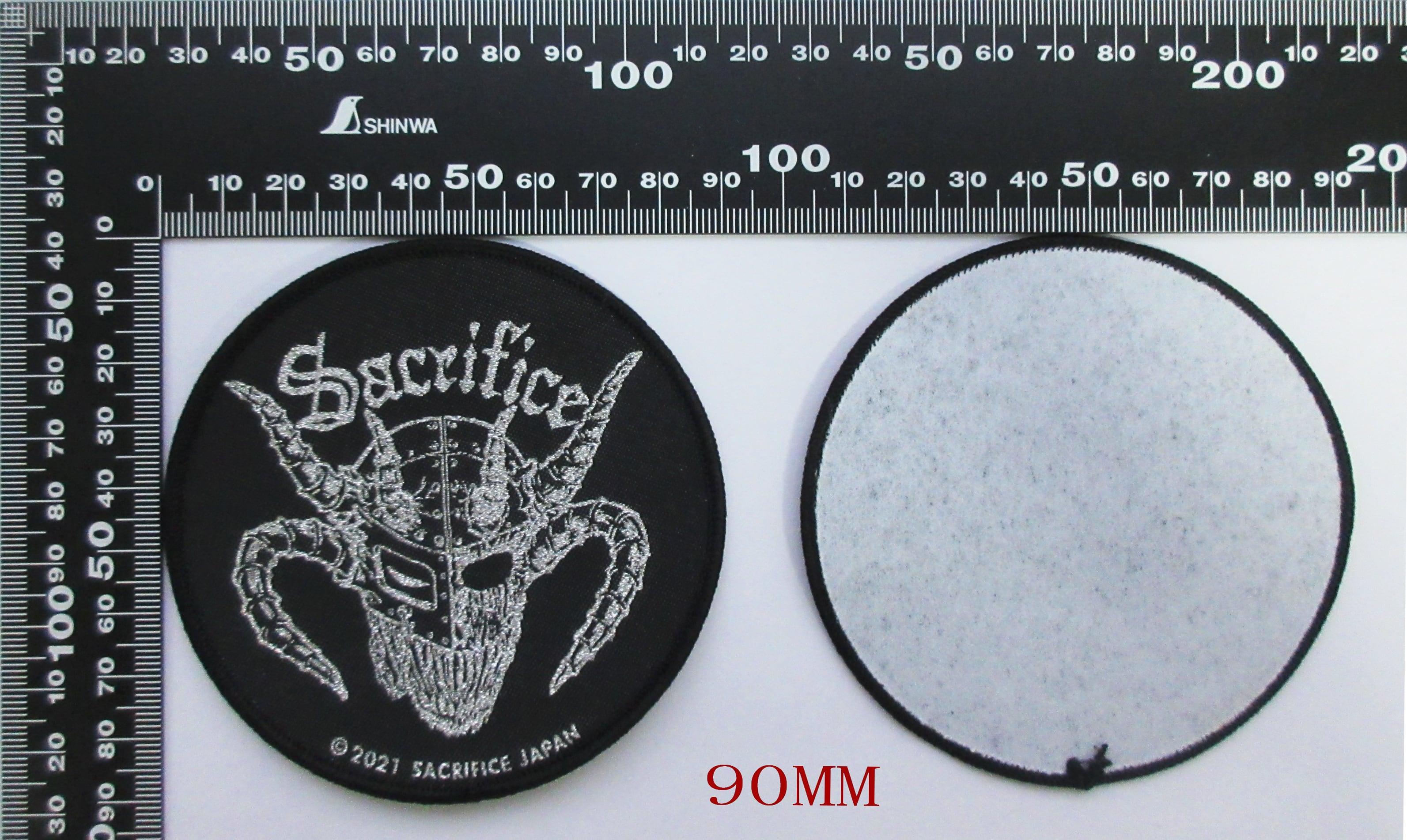 "SACRIFICE ""Crest Of Black"" 刺繍パッチ (丸型)"