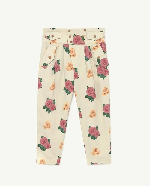 the animals observatory CAMEL TWILL KIDS TROUSERS