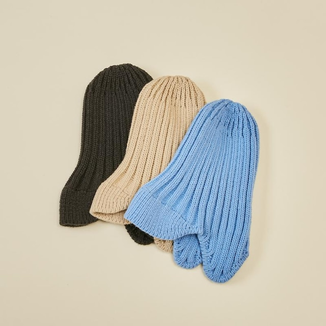 Last one!(sky blue) MOUN TEN. knit flight cap [21W-MA26-1017] MOUNTEN.※メール便1点までOK