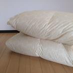 S-羽毛掛ふとん 【マース】 シングル カナダマザーホワイトグースダウン−CONキルト (80サテン/1.3kg)