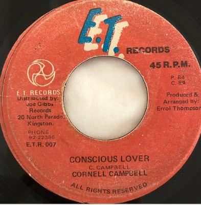 Cornell Campbell(コーネルキャンベル) - Conscious Lover【7'】