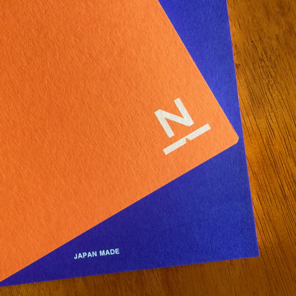 ノンブルノート「N」(01)オレンジ×ロイヤルブルー