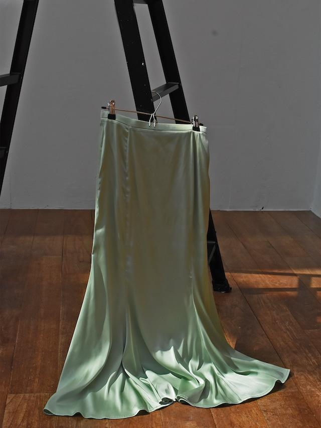 satin mermaid skirt(green)