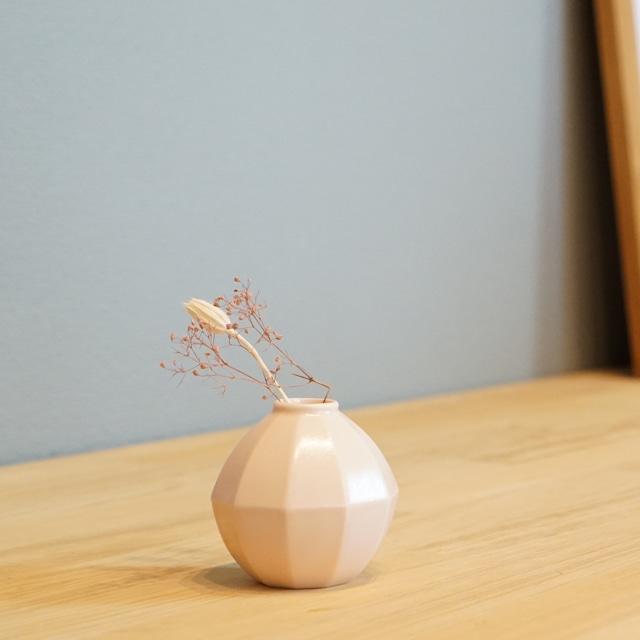 お部屋に春が来た!?な桜色の小ぶりな、セラミックベース フランタン
