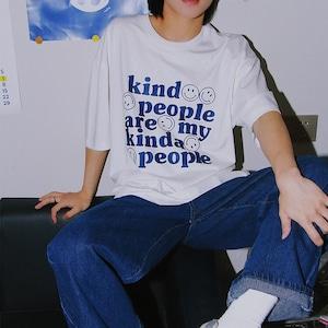 スマイルレタリングTシャツ YH0796