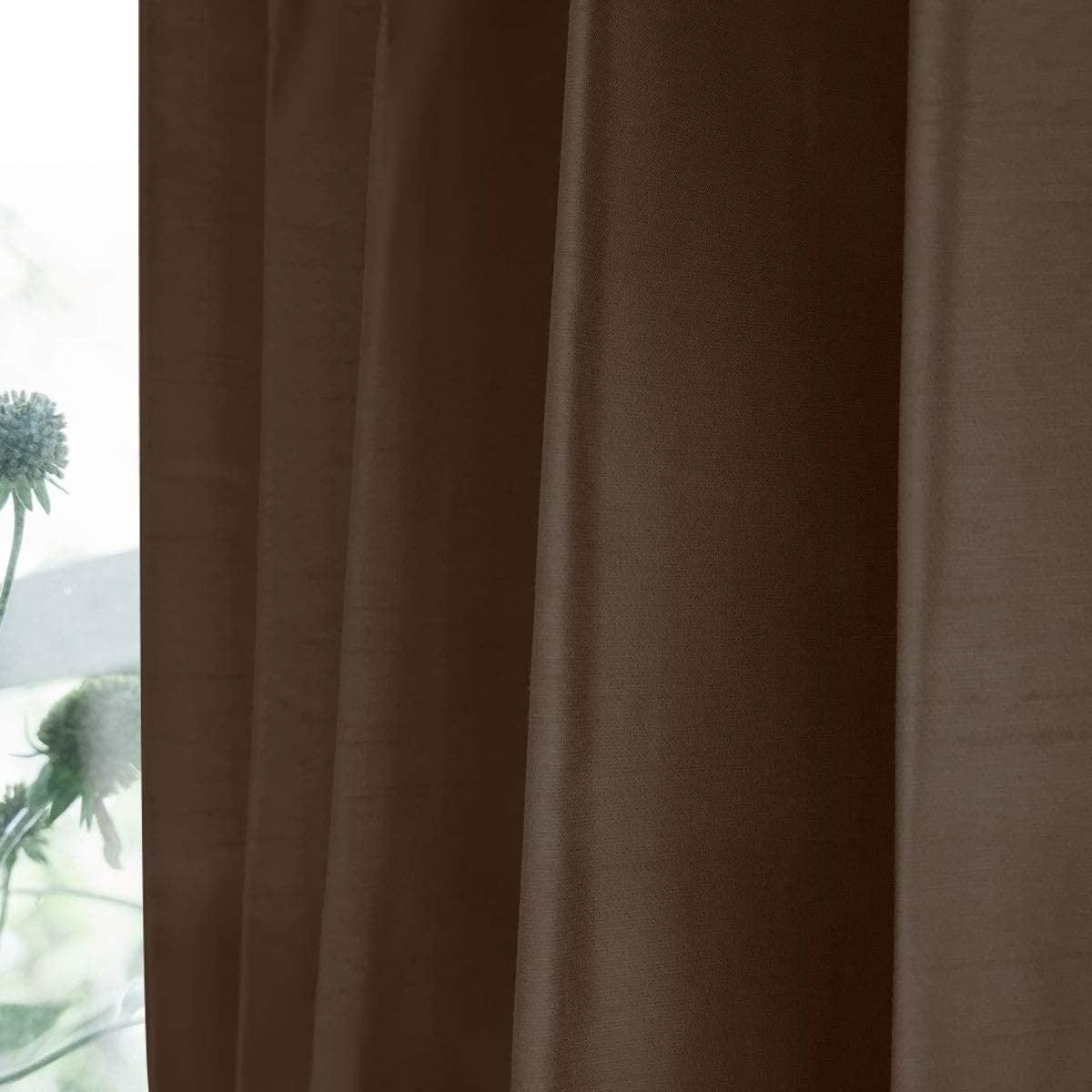 シャイニー/ブラウン 完全遮光 1級遮光 遮熱・断熱 防音 形状記憶加工 ウォッシャブル カーテン 2枚入 / Aフック サイズ(幅×丈):100×178cm kso-024-100-178