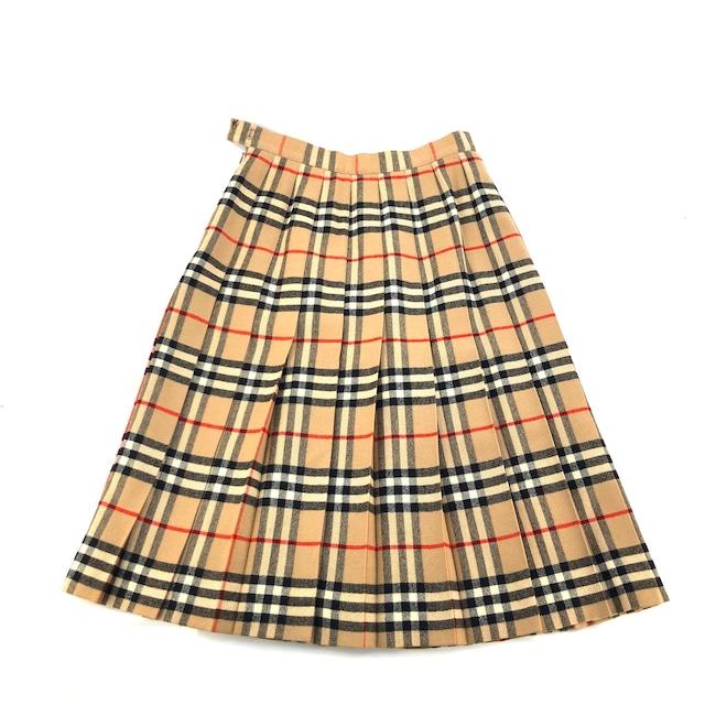 Burberrys' バーバリーズ クラシックチェック スカート ミディ プリーツ ベージュ vintage ヴィンテージ オールド ノヴァチェック usvuee