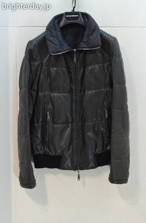 EMPORIO ARMANI レザー中綿ジャケット