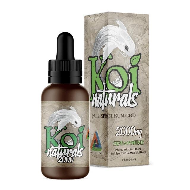 『舌下で摂取』Koi Naturals CBDオイル Spearmint味 30ml / 2000mgCBD 【Koi CBD】