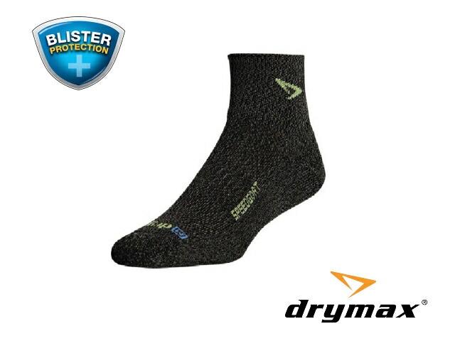 【drymax】 LiteTrail SpeedGoat 1/4 Crew Trailrunning Socks(Graphite Heathered/Sublime)