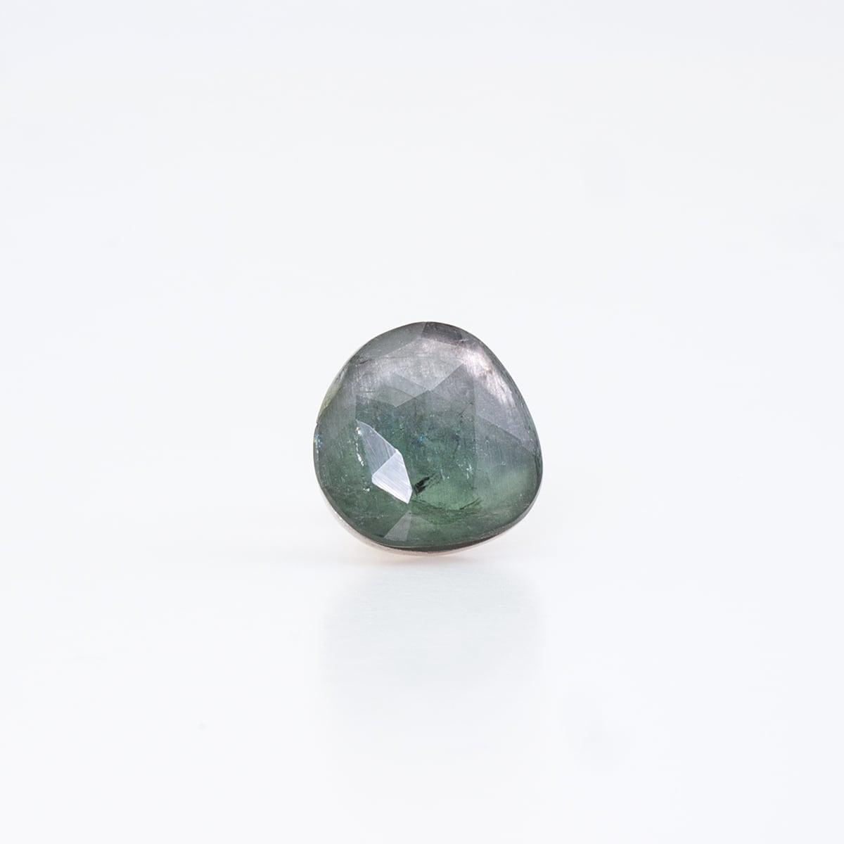 Green tourmaline mirror earring / Single