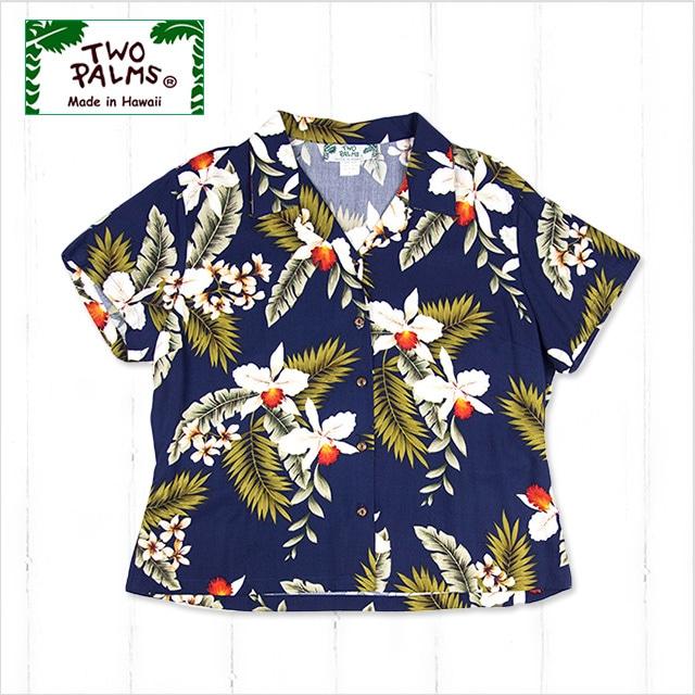 レディース ハワイアンオーキッド(ネイビー)サイズL・XL(2L・LL) BIG/L401R-Hawaiian-Orchid NB