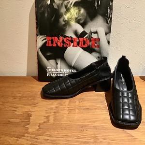 F UMIETANAKA F20A-60qullting leather shoes colar black size 36 1点 37 1点 38 1点