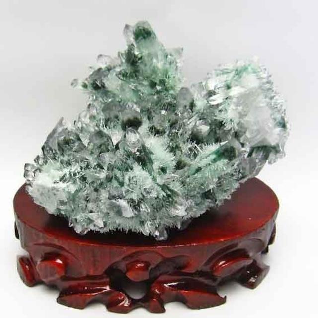 緑水晶 クラスター 台座付属 送料無料 182-598