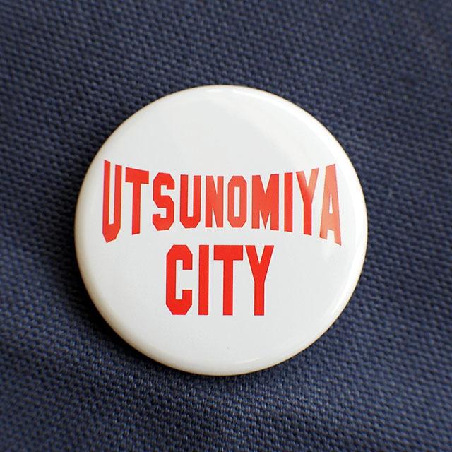 缶バッジ 38mm UTSUNOMIYA CITY レッド