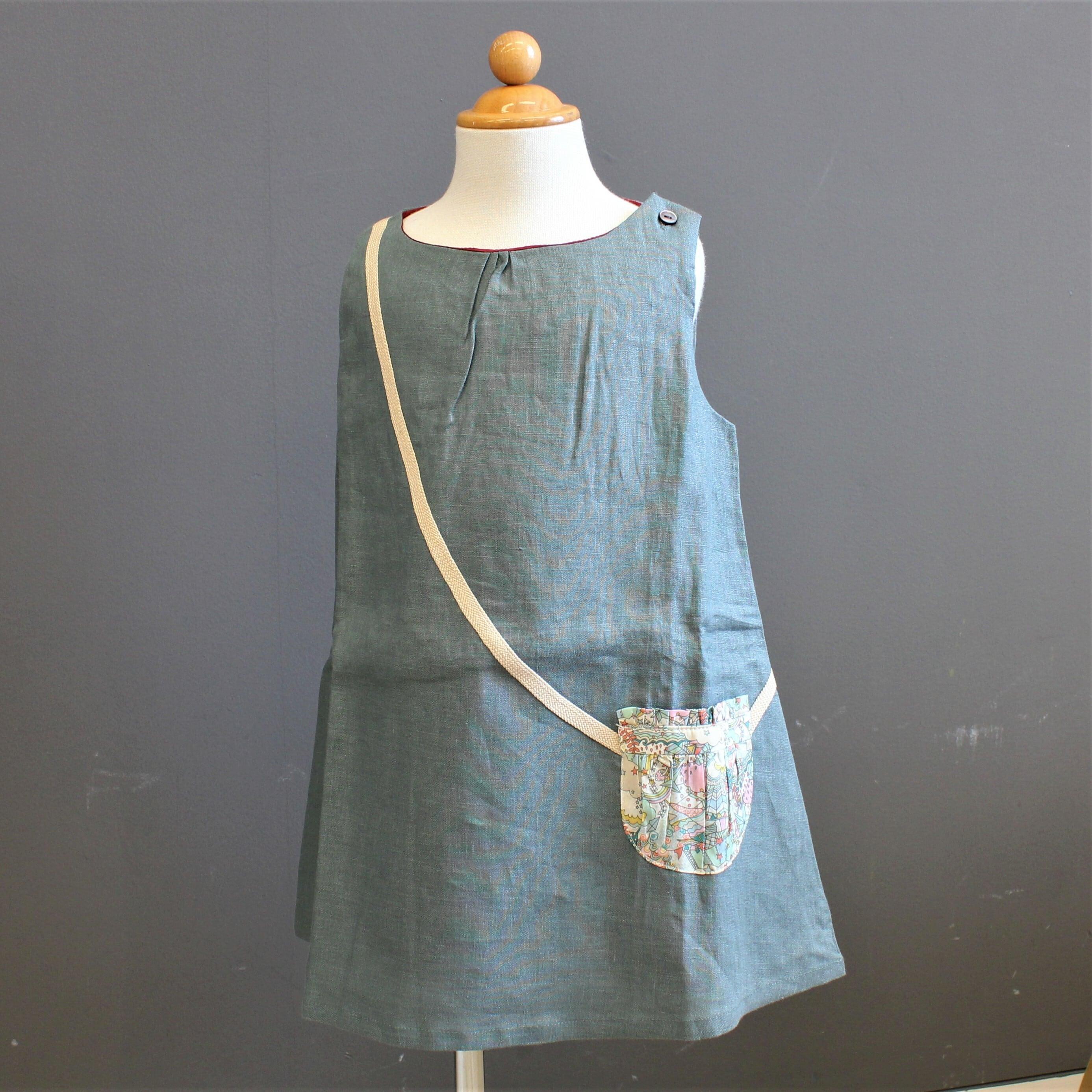 Je suis en cp!  Linen Dress 4Y