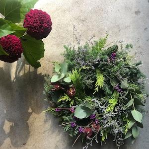 Fresh Green Wreath L-size (〜Φ40cm)※発送は11月下旬から