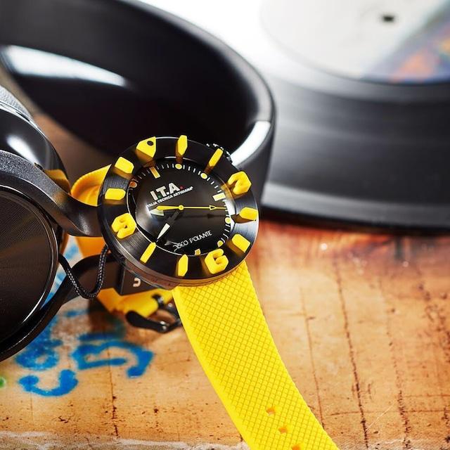 【I.T.A. アイティエー】DISCO VOLANTE ディスコ・ボランテ(イエロー)/国内正規品 腕時計