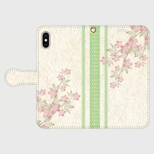 博多献上×桜ロマン iPhone専用・手帳型(帯あり)