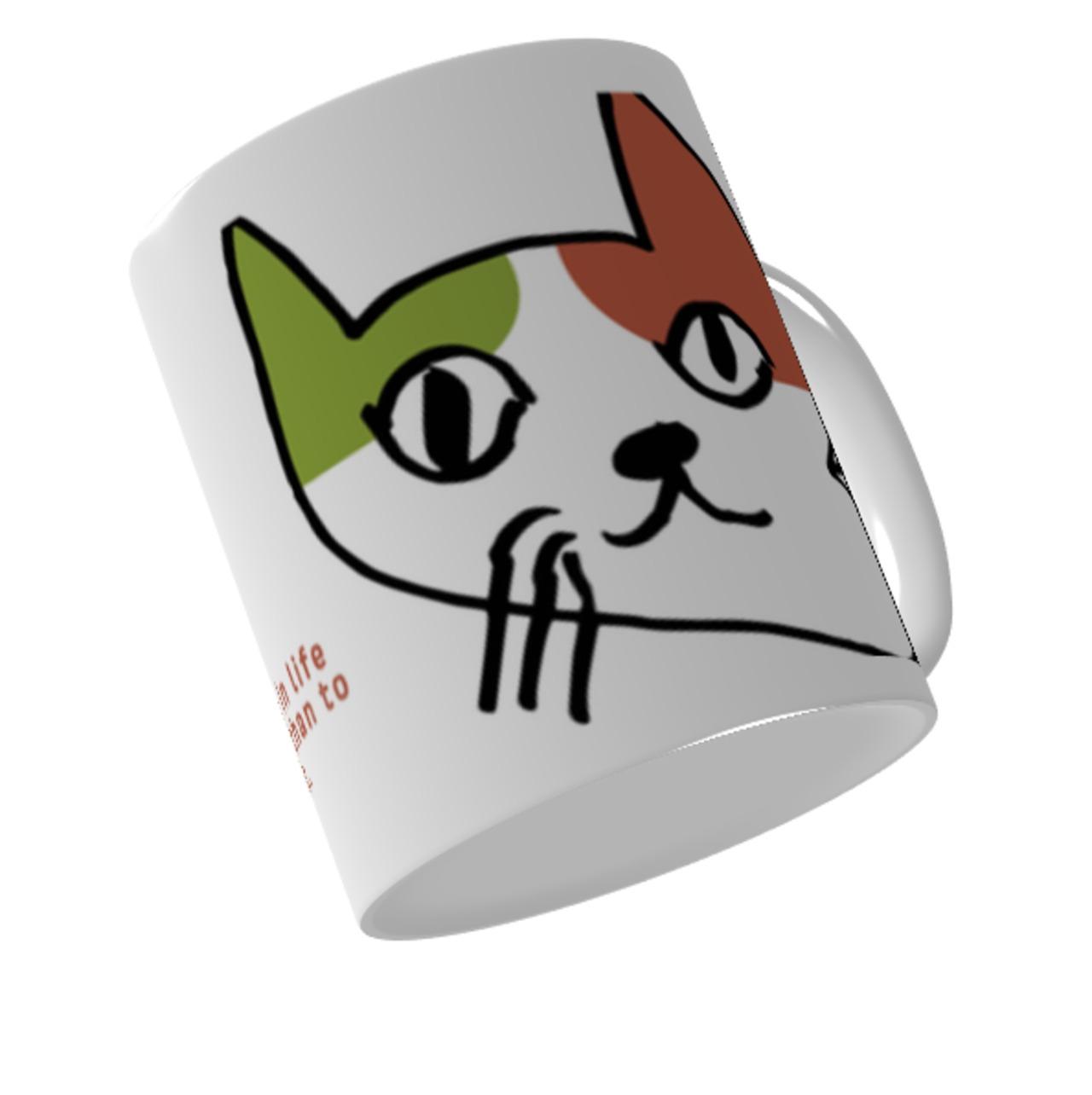 猫庭三毛マグカップ【とまもん】