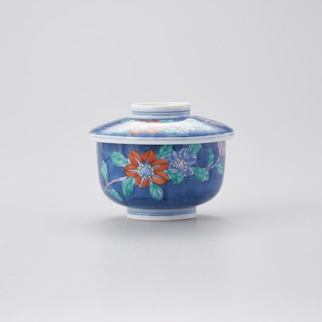 【華山窯】鉄仙花絵茶碗蒸し 小蓋物 ※在庫限り