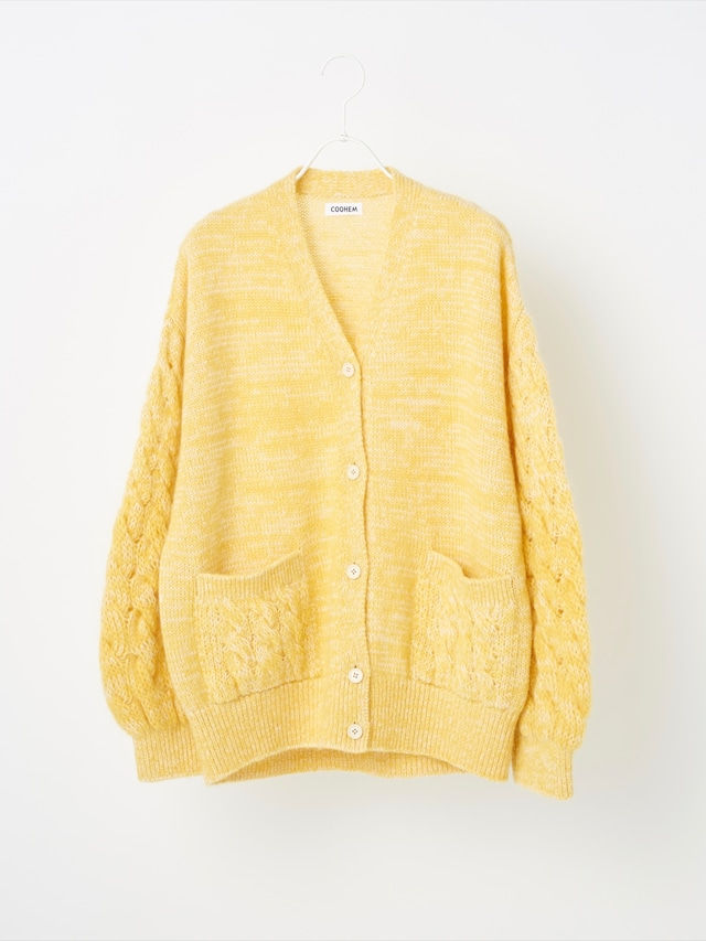 【COOHEM  ARCHIVE】MOHAIR CABLE KNIT CARDIGAN