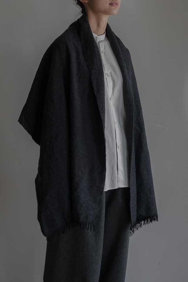 01603-1 chambray muffler / black,charcoal