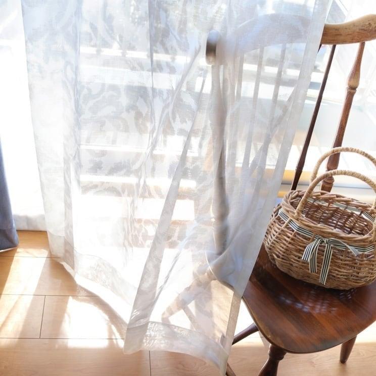 【最短6営業日で出荷】オパールレースカーテン「Shirley シャーリー ホワイト」 (幅×丈):100×133cm(2枚組) ac-0073