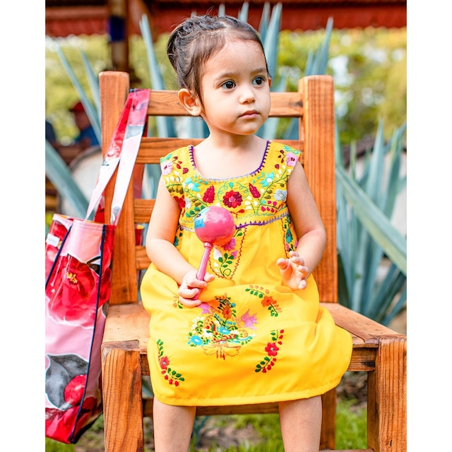 Mexican Embroidered Dress [Size 2T/95cm]