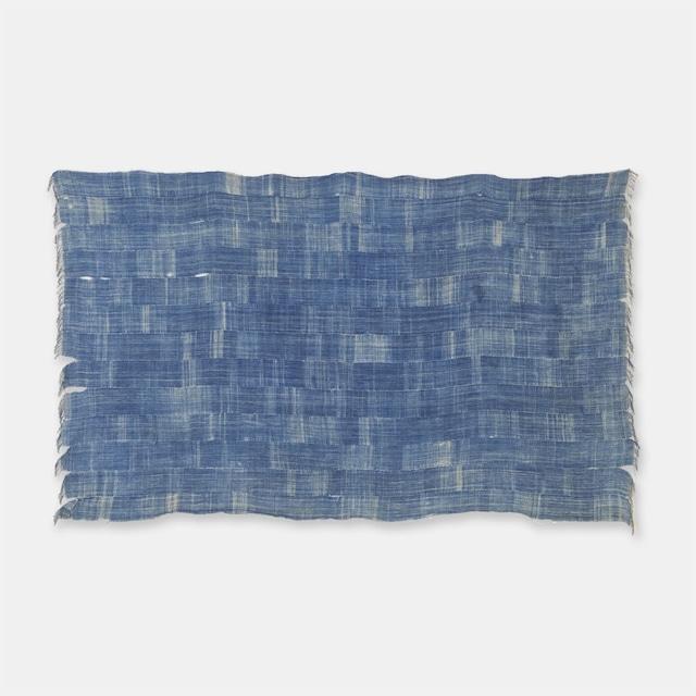 ブルキナファソ モシ族 ヴィンテージの藍染め布 絞り SLI006