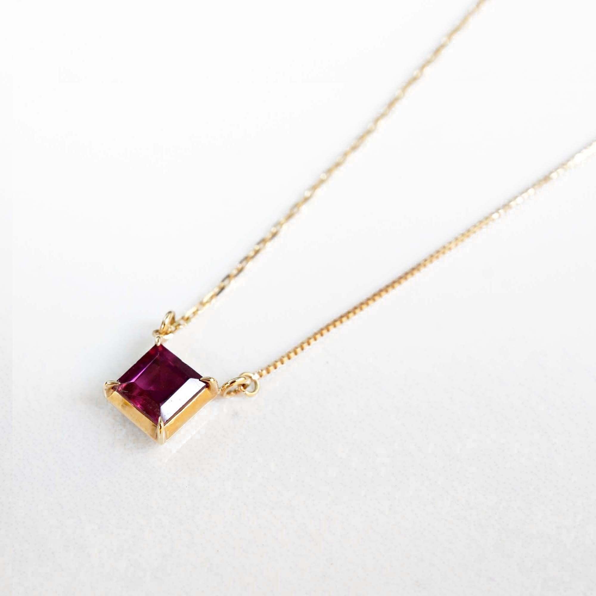 Rhodolite Garnet Necklace(N144-RG)