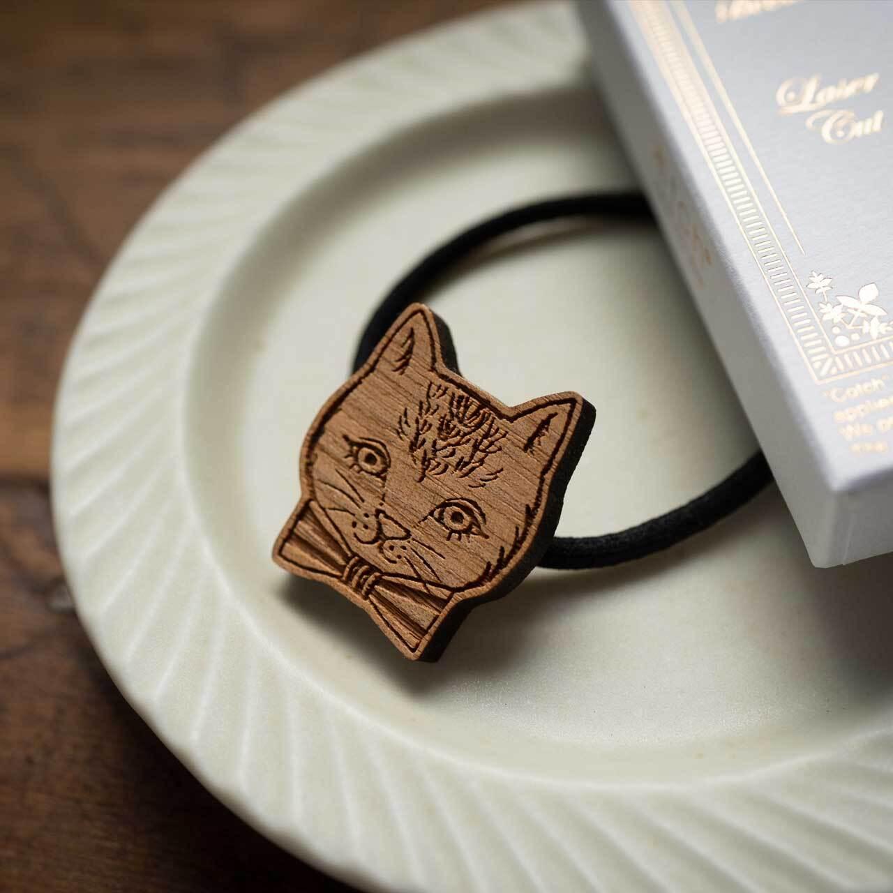Ribbon Cat / リボン猫(Hair Elastic)/ 黒