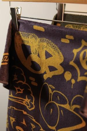 6th Wall by ATOMONE SUPER BIG TOWEL [ PURPLE x GOLD ]
