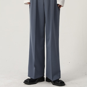 Drape center line pants   b-497